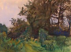"""Josef Dobrowsky(1889 - 1964)""""Im Wald""""1957Gouache auf PapierSigniert und datiert, gerahmt45 x 61"""