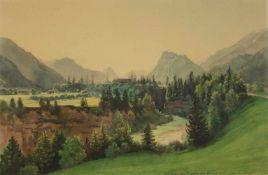 """Thomas Ender(1793 - 1875)""""Waldlandschaft""""Aquarell auf PapierUnleserlich betitelt und gewidmet,"""