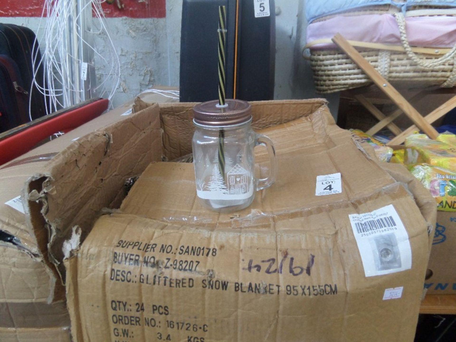 Lot 4 - BOX OF GLASS DRINKING MUGS