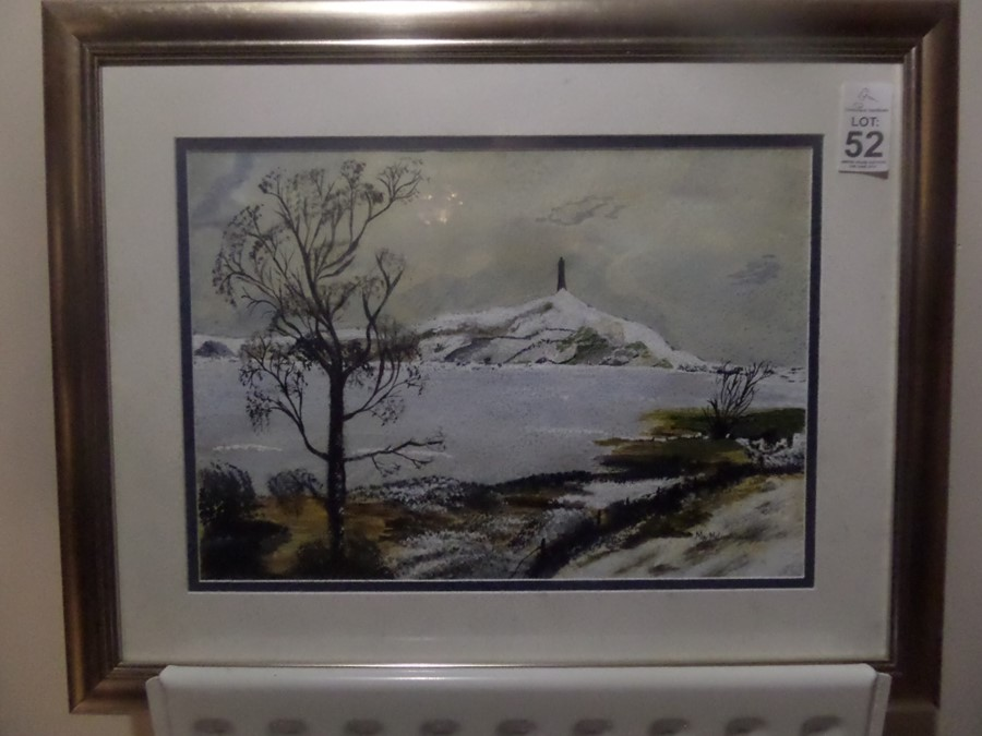 Lot 52 - WINTER SCENE PAINTING BY MAY MALCOMSON
