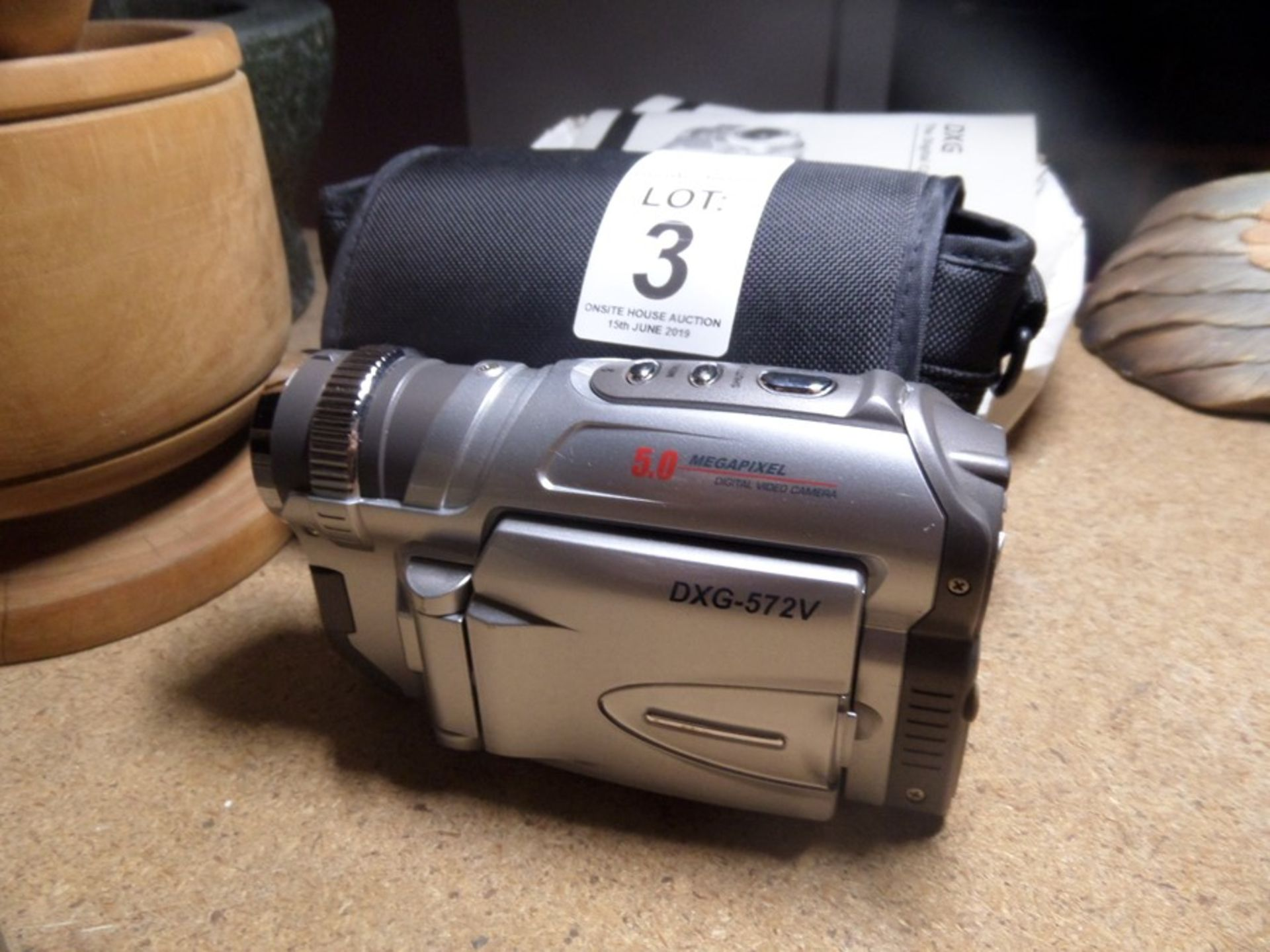 Lot 3 - EXG 5.0 MP DIGITAL CAMCORDER (WORKING)