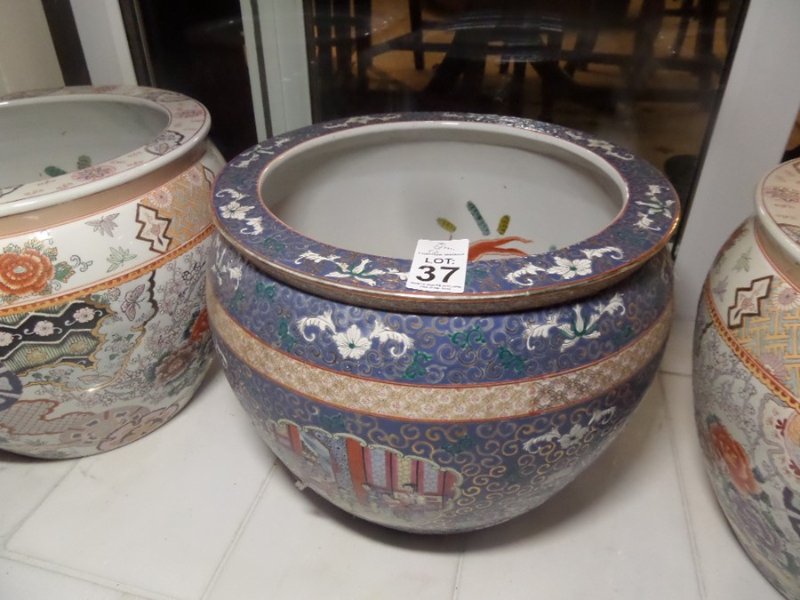 Lot 37 - LARGE ORIENTAL FLOWER POT
