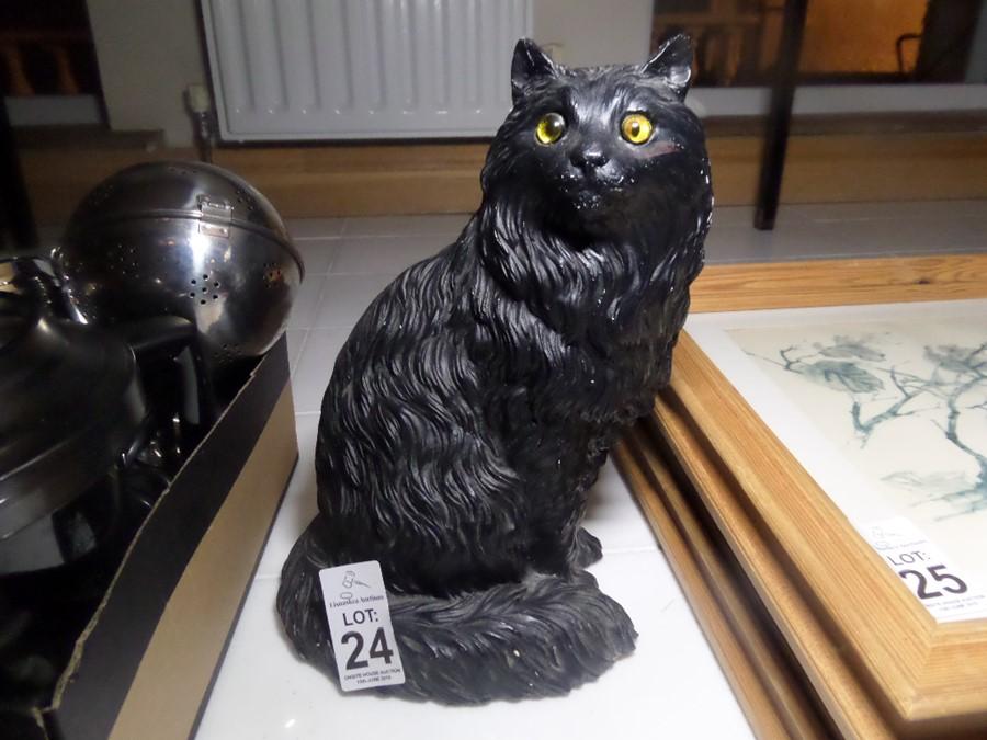 Lot 24 - BLACK CAT ORNAMENT