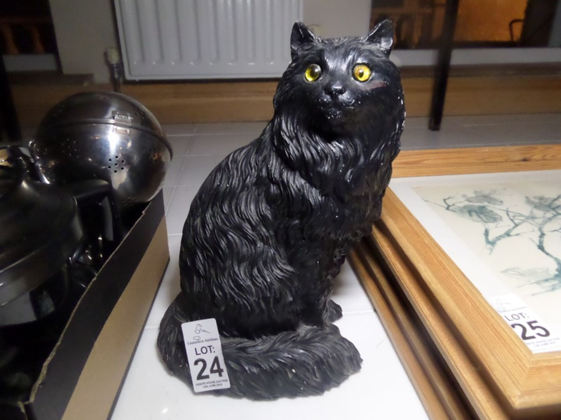 Lot 24 - BLACK CAT ORNAMENT