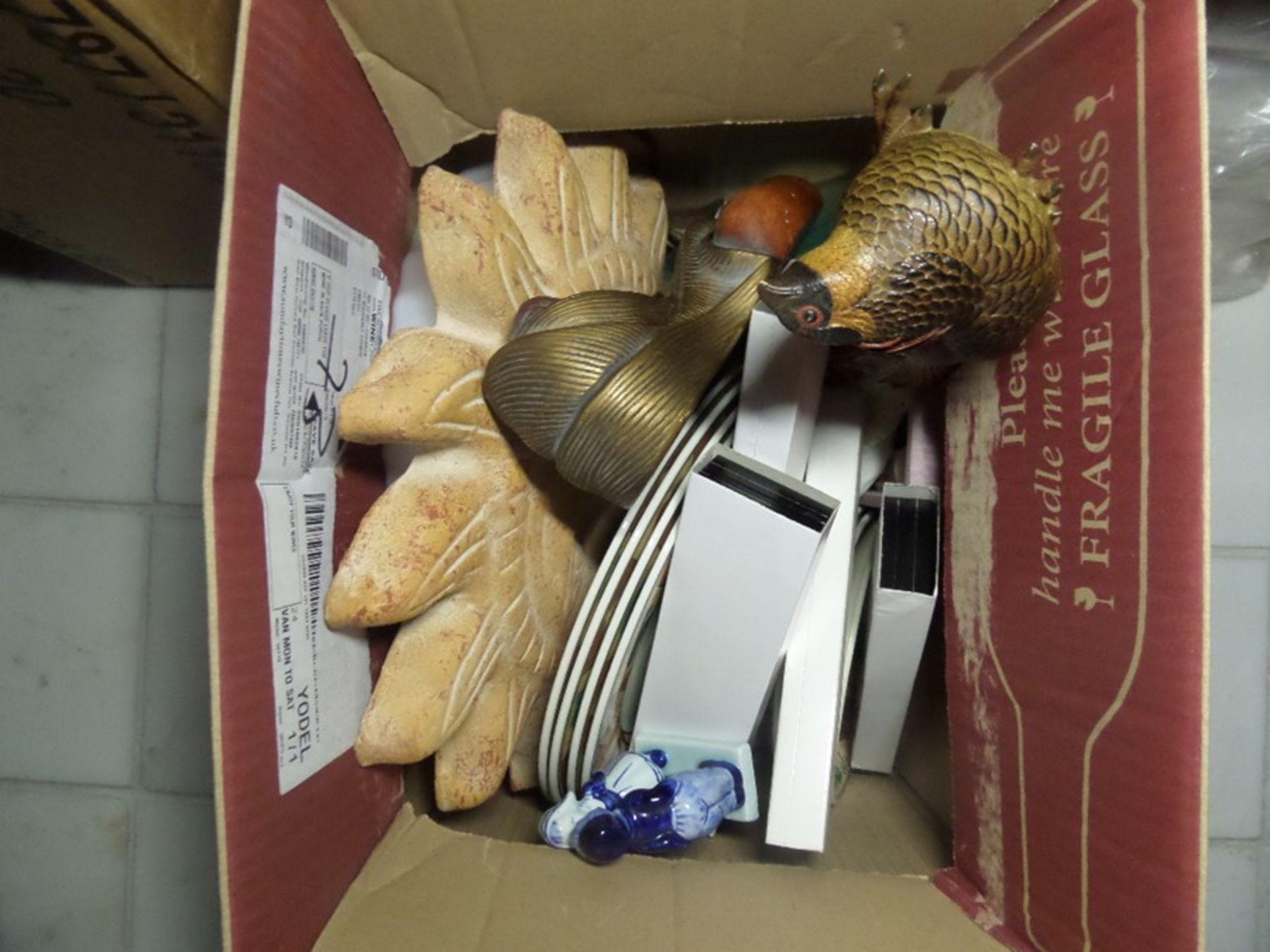 Lot 19 - BOX OF ASSORTED ORNAMENTS