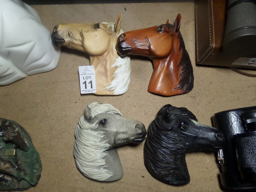 Lot 11 - 4X BOSSONS HORSE HEADS