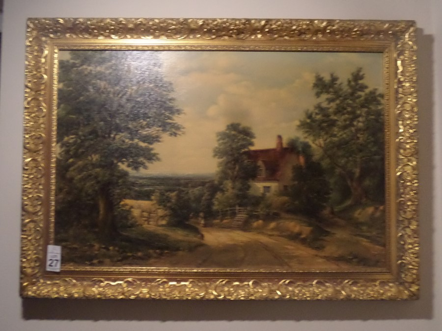 Lot 27 - GILT FRAMED COUNTRY SCENE PRINT