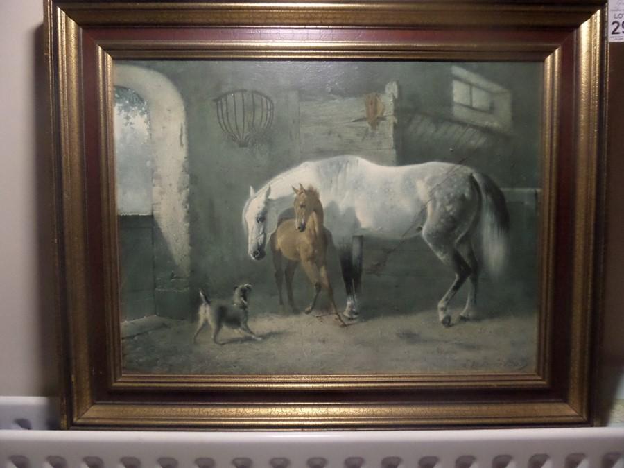 Lot 29 - HORSE & FOAL PRINT