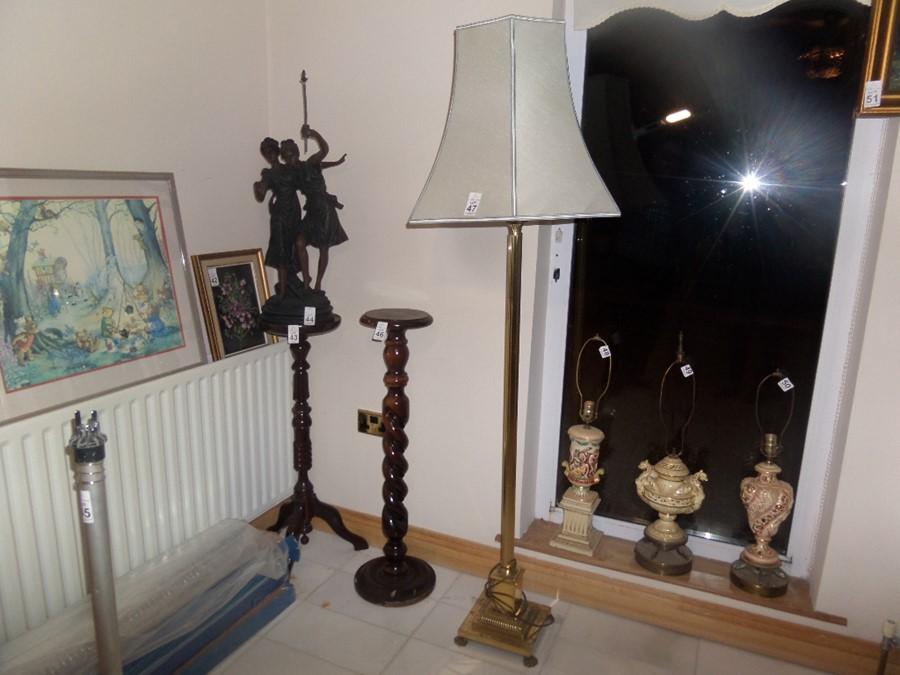 Lot 47 - BRASS STANDARD LAMP