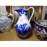 Lot 31 - BLUE AND WHITE WATER JUG STAMPED COPELAND & GARRETT
