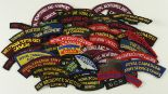 Lot 258 - Cloth Badges: Canadian Army WW2 & later embroidered shoulder title badges in excellent