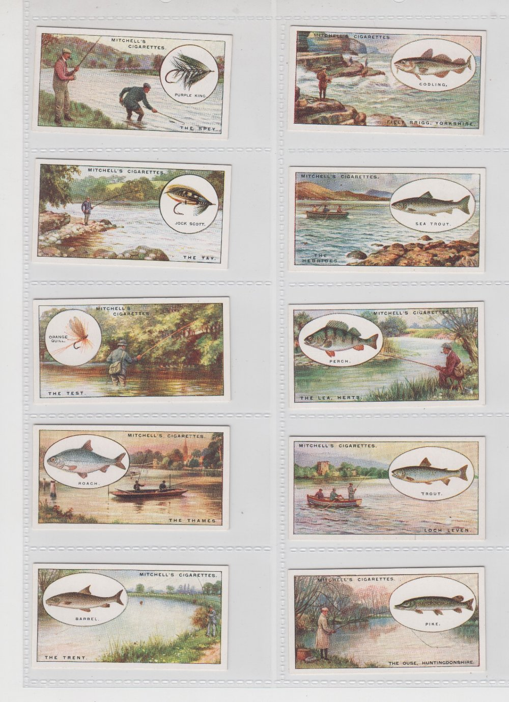 Lot 217 - Cigarette cards, Mitchell's, Angling (set, 25 cards) (vg/ex)