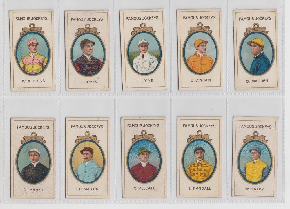 Lot 267 - Cigarette cards, Taddy, Famous Jockeys (with frame) (set, 25 cards) (fair/gd)