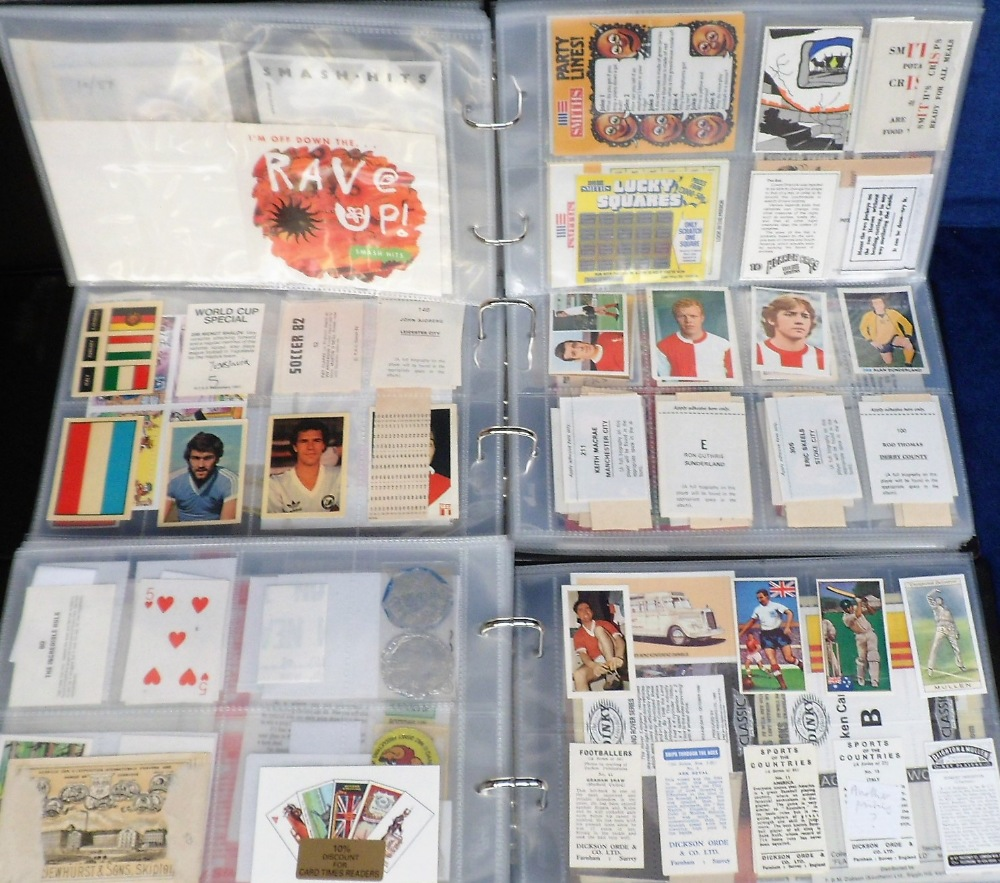 Lot 255 - Trade Cards & Giveaways, 3 albums containing a selection of various cards, giveaways, packets,