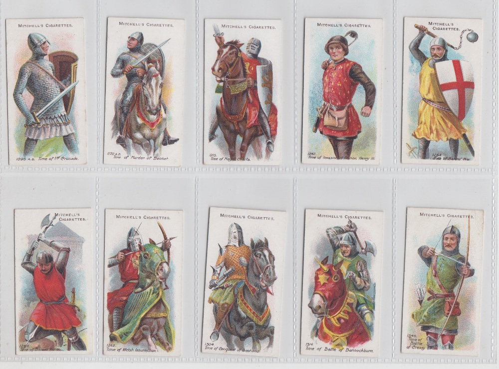 Lot 220 - Cigarette cards, Mitchell's, two sets, Arms & Armour (50 cards) & Army Ribbons & Buttons (25