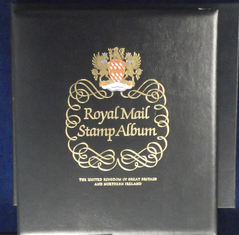 Lot 34 - Stamp accessories, 3 Royal Mail hingeless albums with slip cases with pages for the period 1971-2002