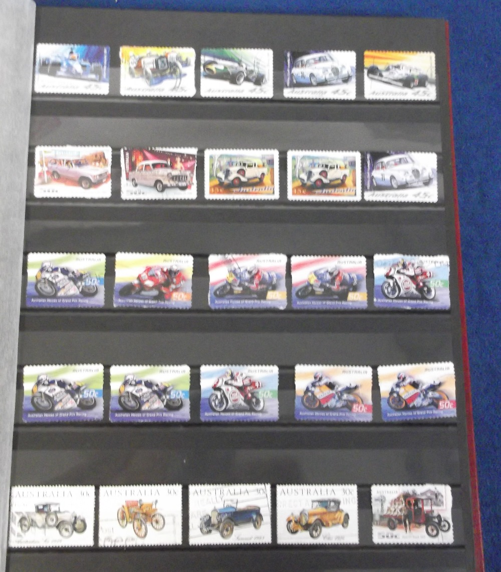 Lot 8 - Stamps, stockbook containing a collection of mostly modern Australian & Bahamas stamps, mint and