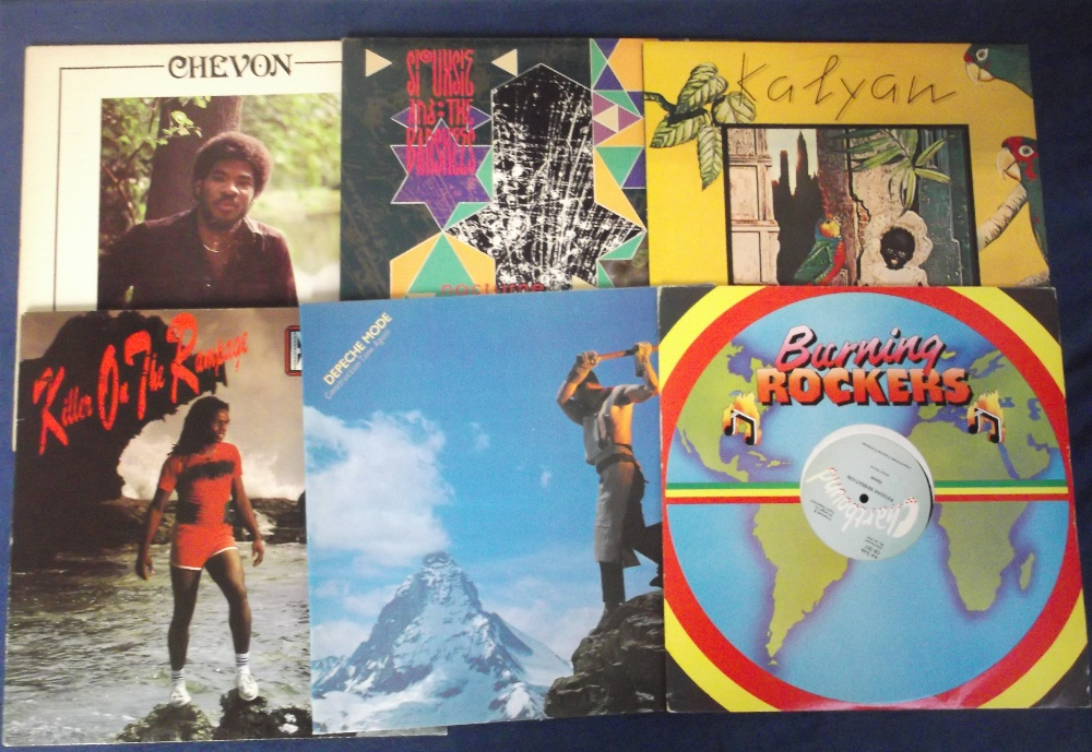 "Lot 60 - Vinyl Records, 50+ albums and 12"" singles, various genres, reggae, new wave, rock etc, includes demo"