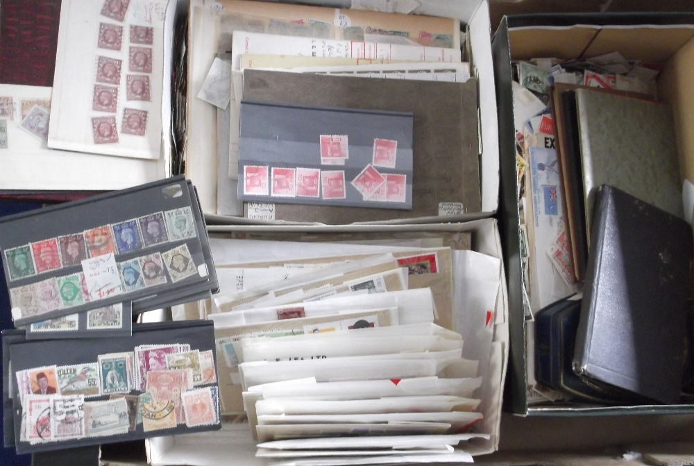 Lot 35 - Stamps, a large collection of World Stamps, mint and used, some unmounted also album sheets of World