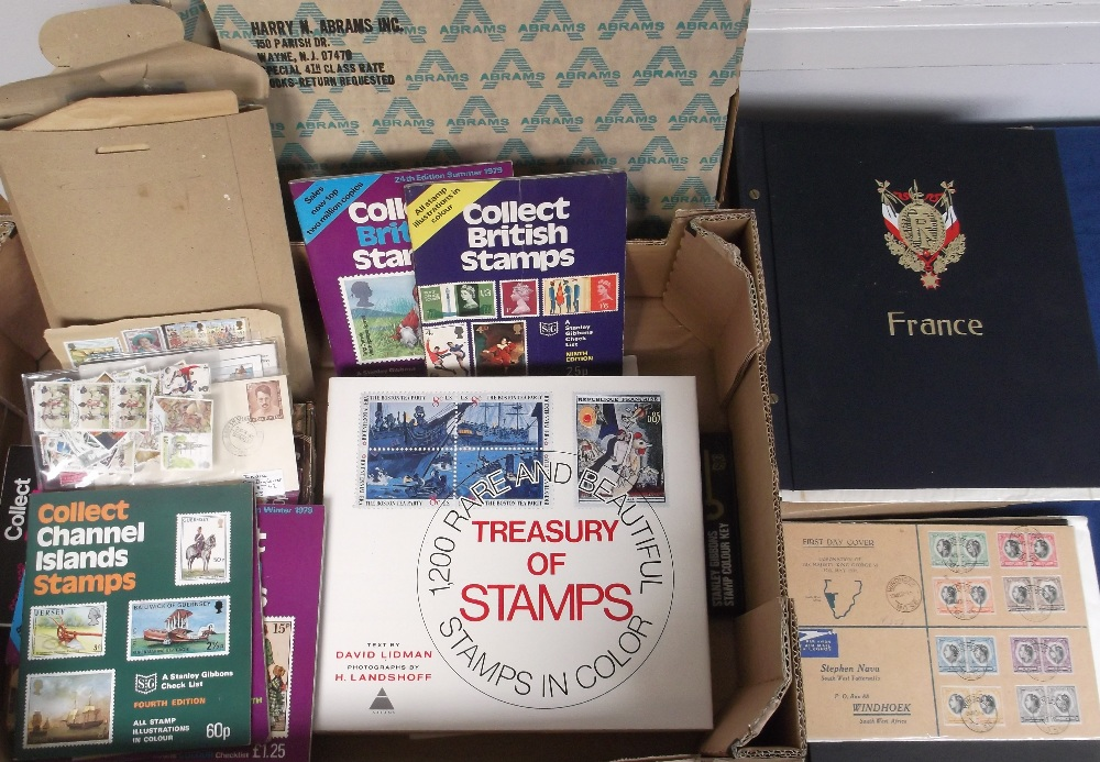 Lot 19 - Stamps etc, a mixed selection inc. Davo album for France 1870's onwards, mint and used, sparse but