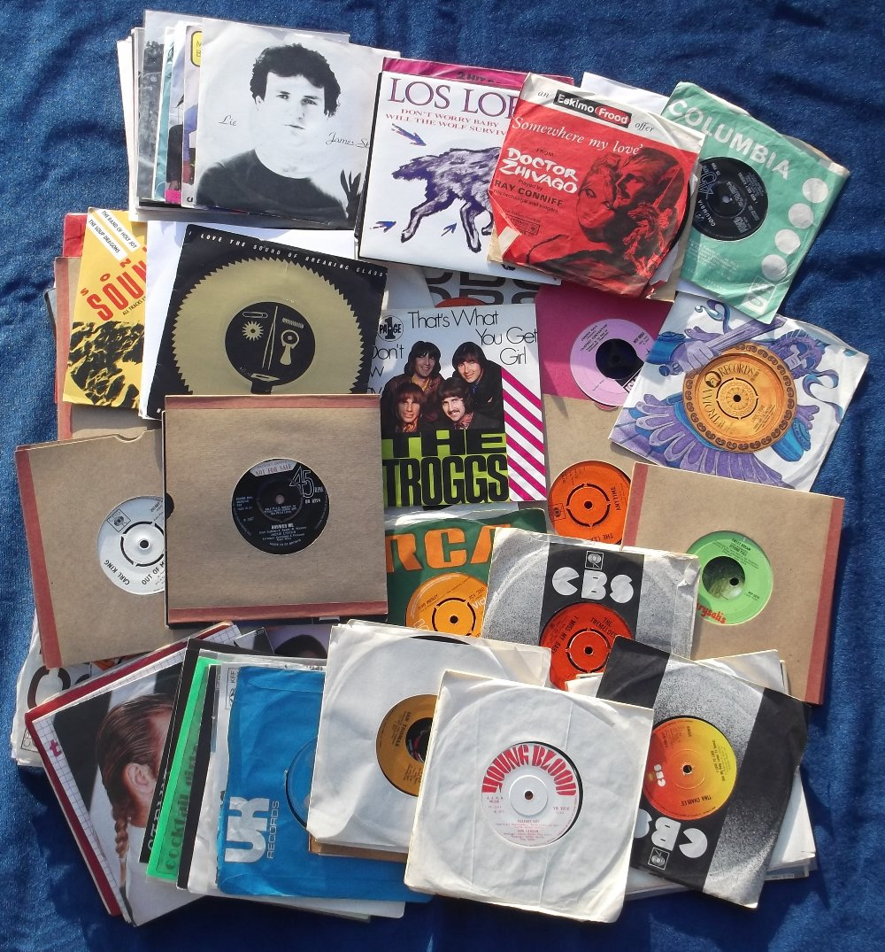 """Lot 45 - Vinyl Records, approx. 100 7"""" vinyl records, mostly 1960s/1970s, many with company sleeves,"""