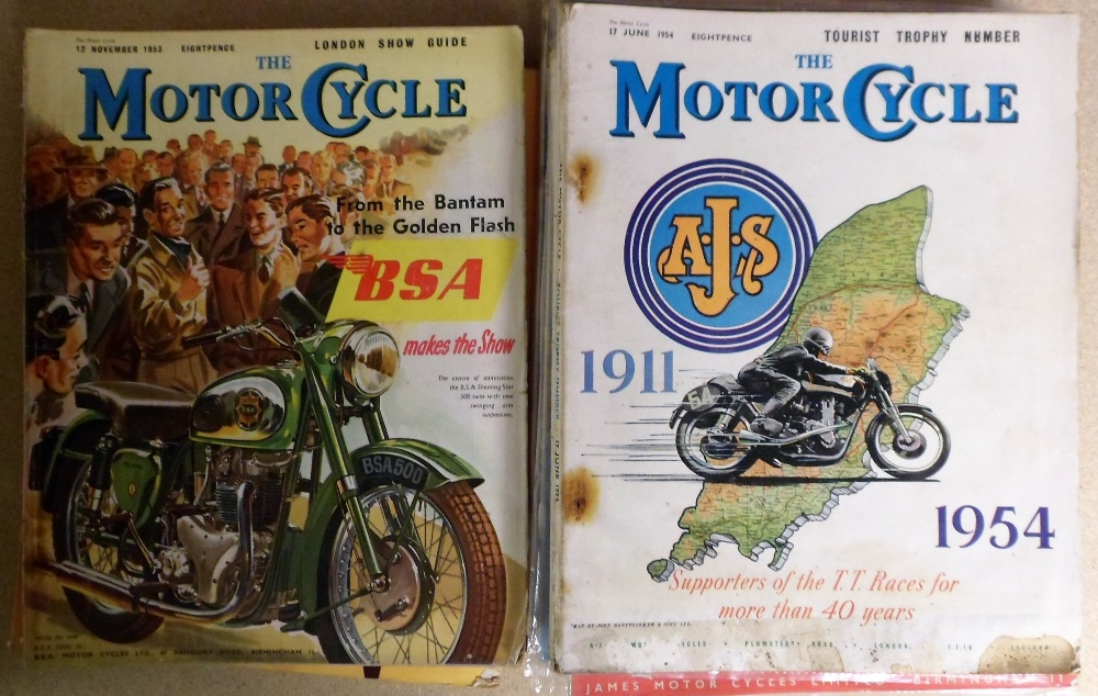 Lot 45 - Motor Cycle Magazine, 25+ magazines dating from 1949-1962 (fair) (25+)