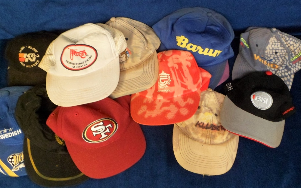 Lot 28 - Motor Cycle & Speedway 'Baseball' Caps, 35 caps to include Reading Bulldogs, Oakley, Iverson Racing,