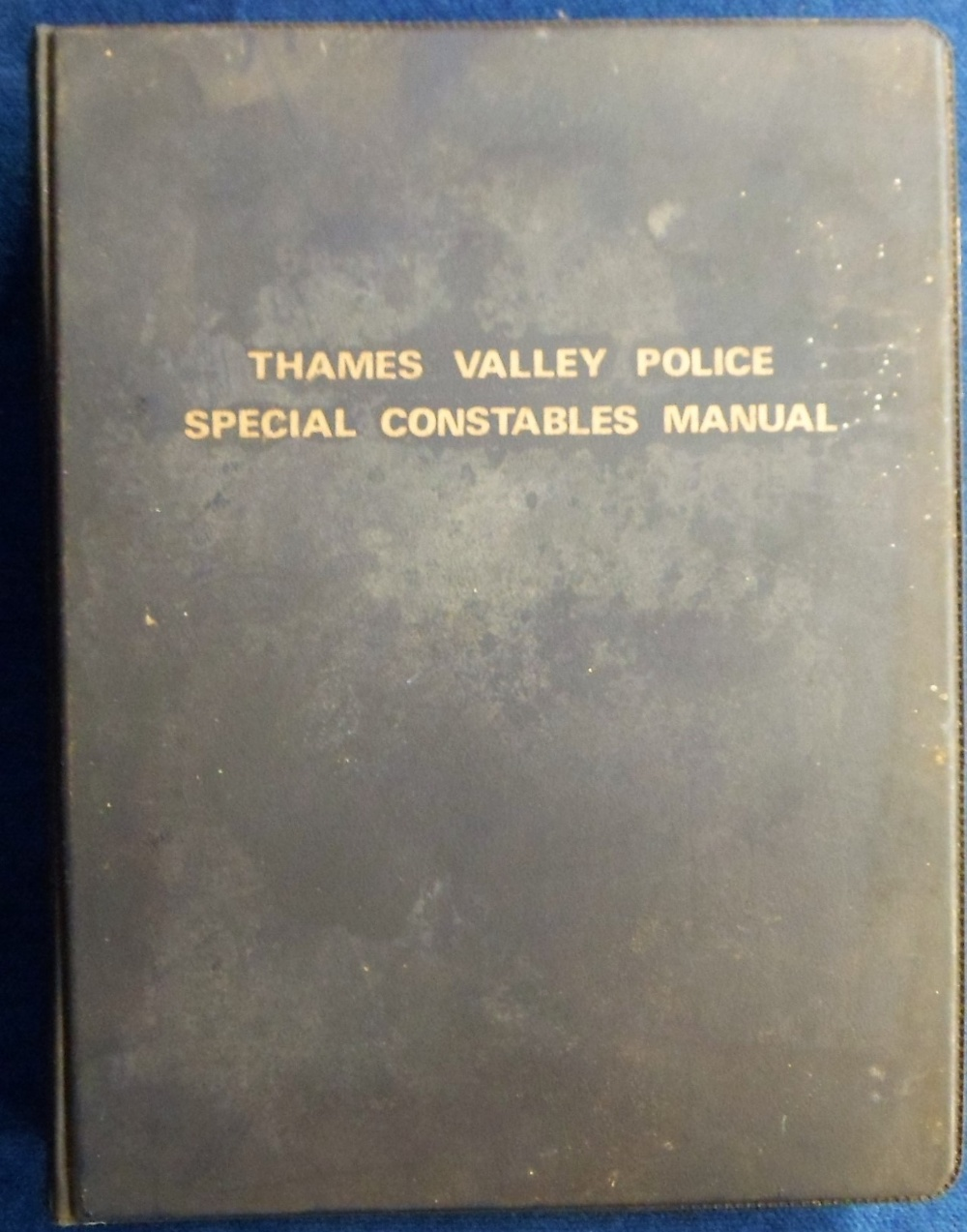 Lot 38 - Police Memorabilia, a copy of the 'Thames Valley Police Special Constables Manual' bound in blue