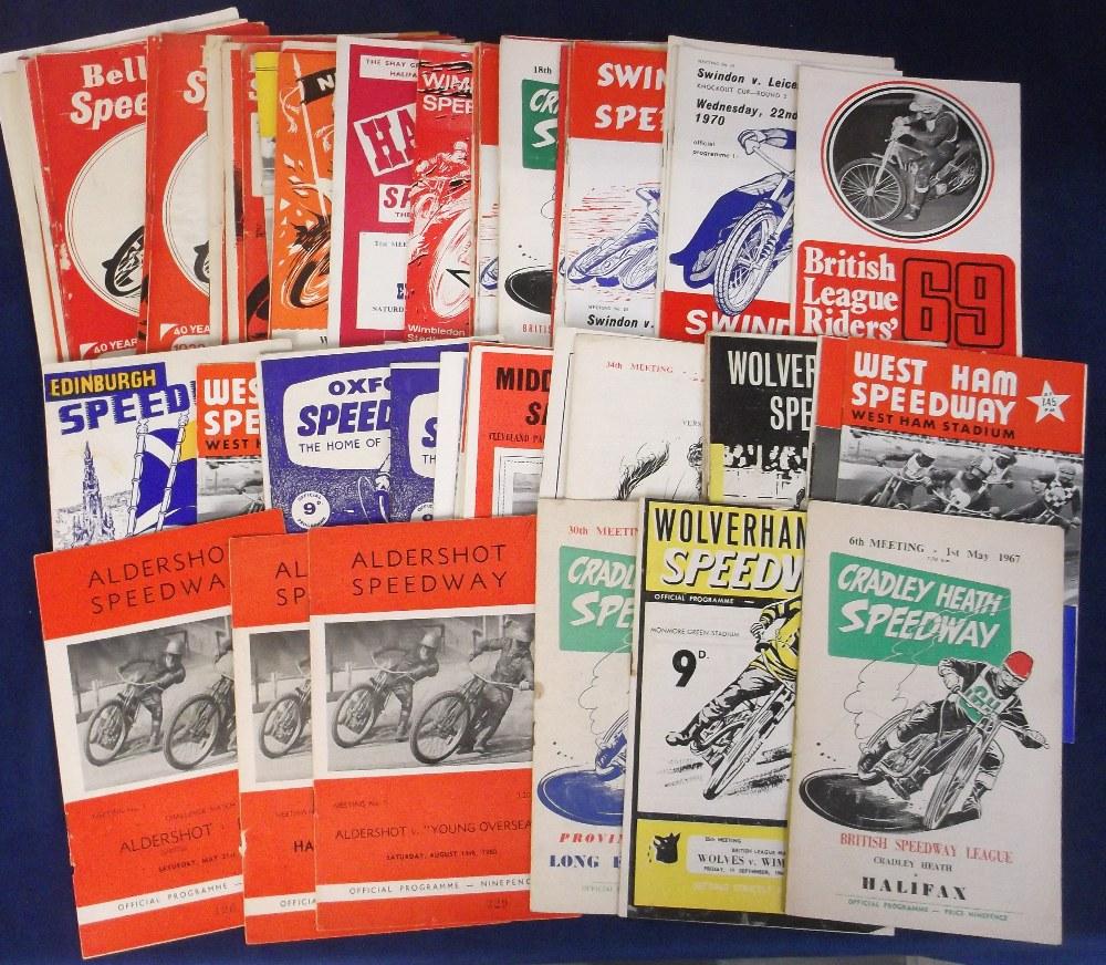 Lot 5 - Speedway programmes, a collection of 80+ 1960's programmes, various tracks, inc. Aldershot, Belle