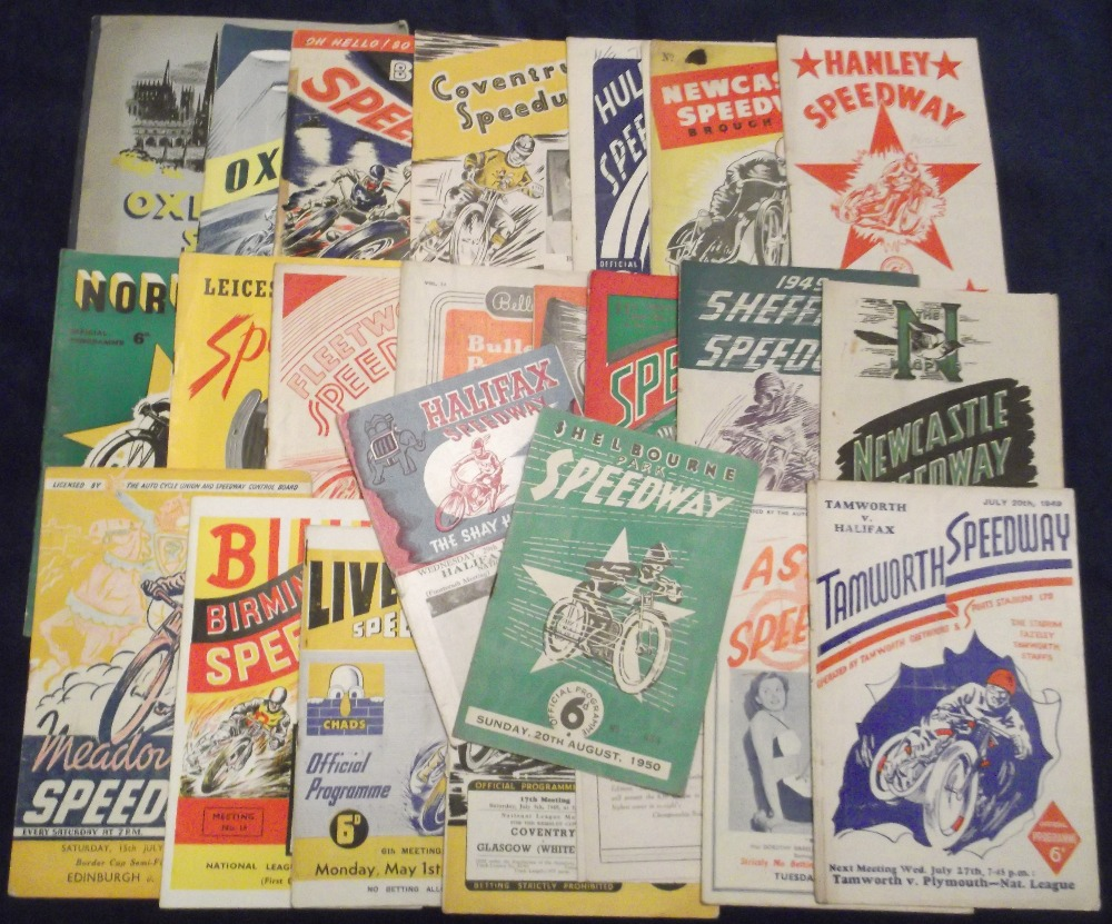 Lot 1 - Speedway programmes, a collection of 24 Northern and Midland Track programmes all from 1949 & 1950