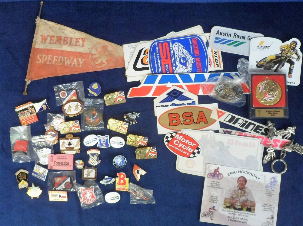 Lot 17 - Speedway & Motor Sport, a collection of approx 35 enamel badges, some duplication, various clubs and