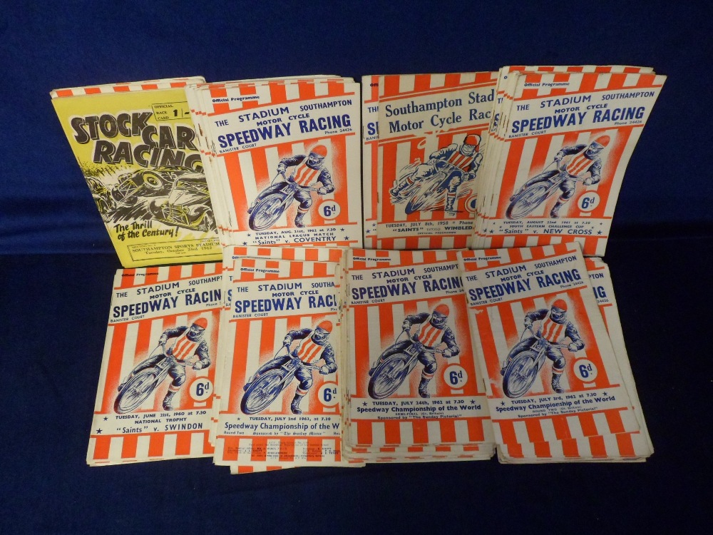 Lot 3 - Speedway programmes, Southampton, a collection of 80+ programmes with dates ranging between 1955 and