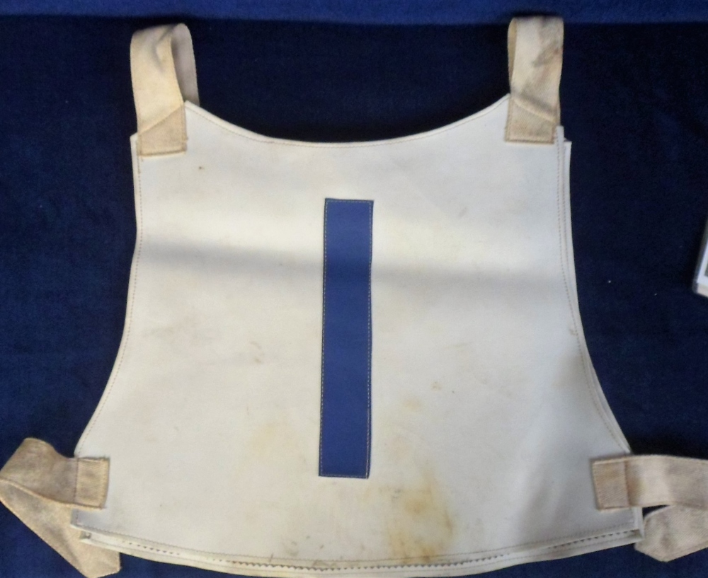 Lot 18 - Speedway, Aldershot, Leather Race Jacket (no 1) sold with 2 later reproduction team photographs, one