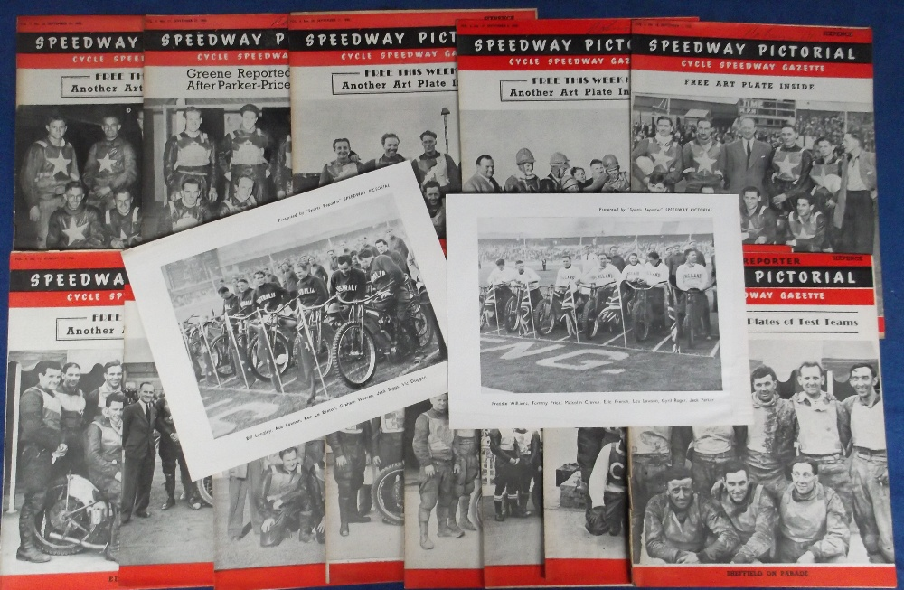 Lot 27 - Speedway magazines & giveaways, Speedway Pictorial, a collection of 13 issues from 1950, each one