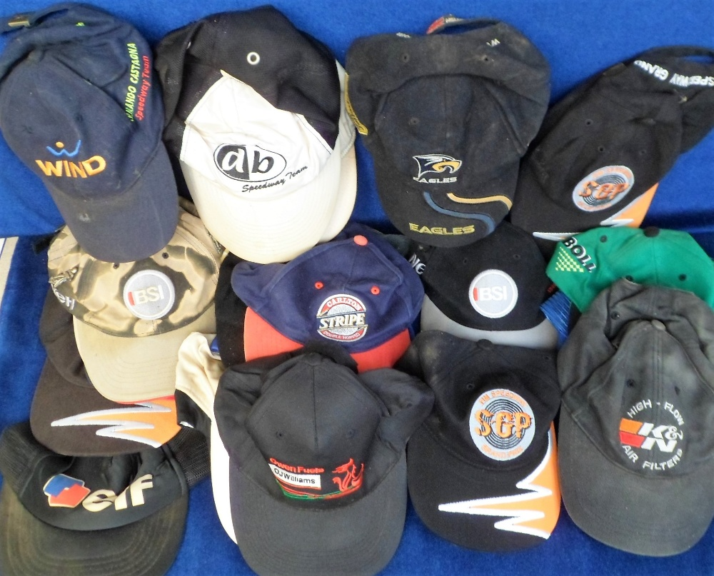 Lot 29 - Motor Cycle & Speedway 'Baseball' Caps, 33 caps to include Reading Bulldogs, Elf, FIM Speedway Team,
