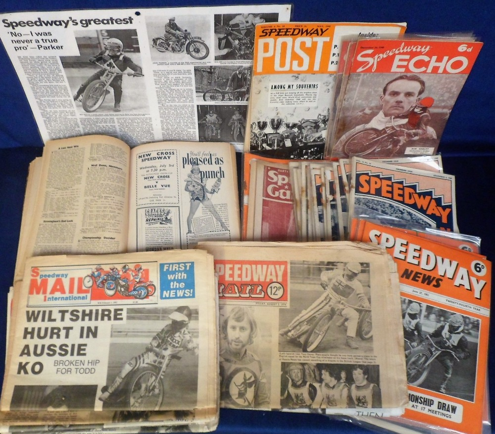 Lot 24 - Speedway Magazines, a bound volume of 'Speedway and Ice News' containing copies dating from May 1946