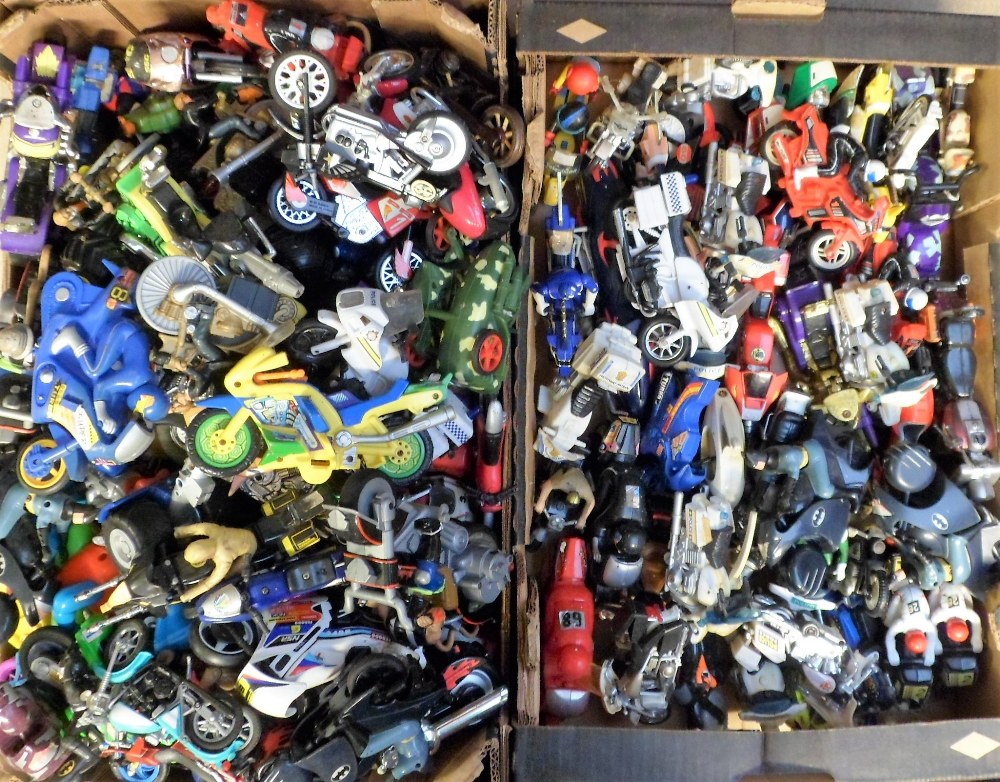 Lot 37 - Model Motorbikes, a large quantity of model motorbikes of assorted scale, most dating from the 1990s