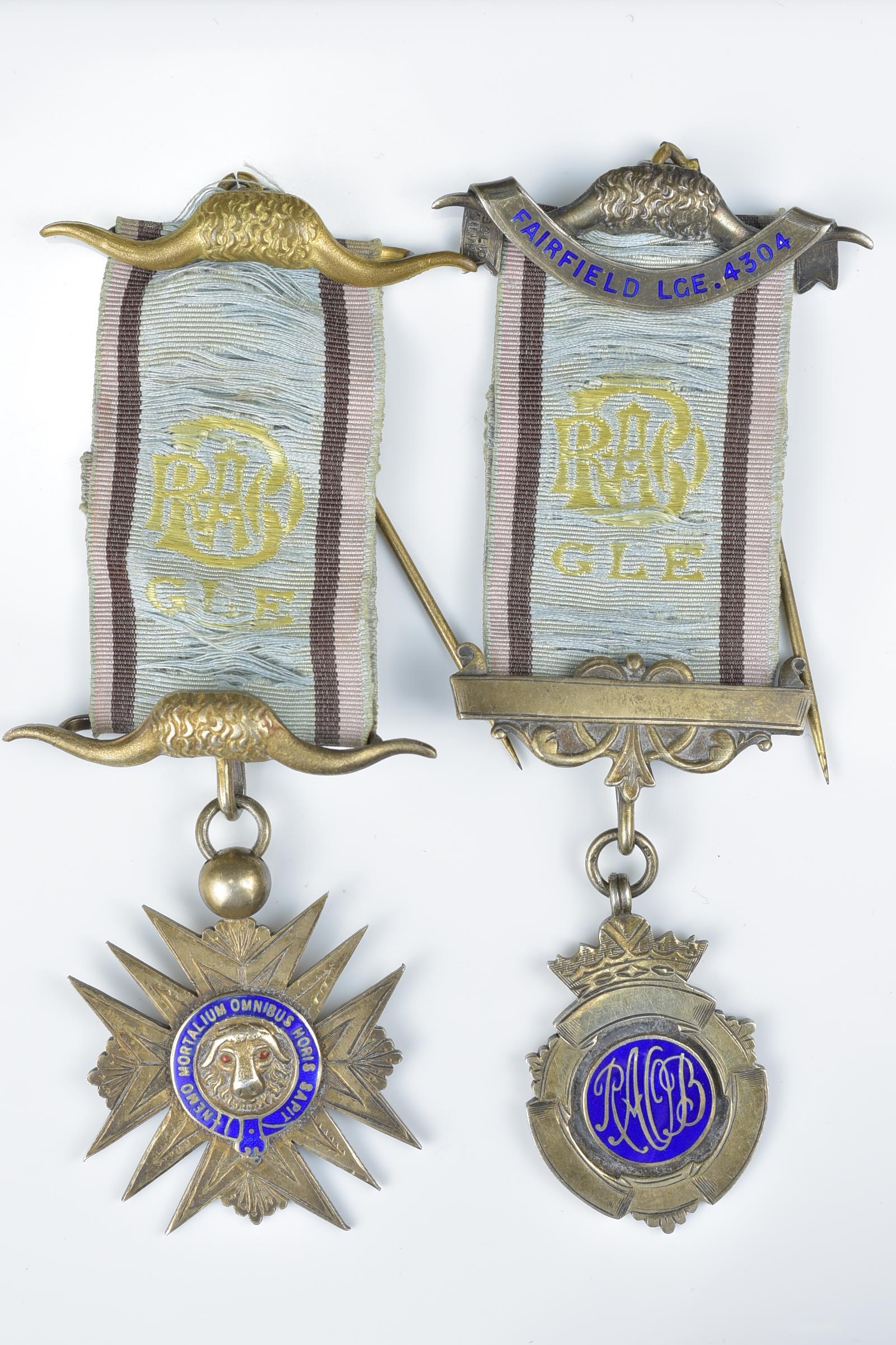 Lot 40 - Two Vintage Masonic Freemasonrymedals