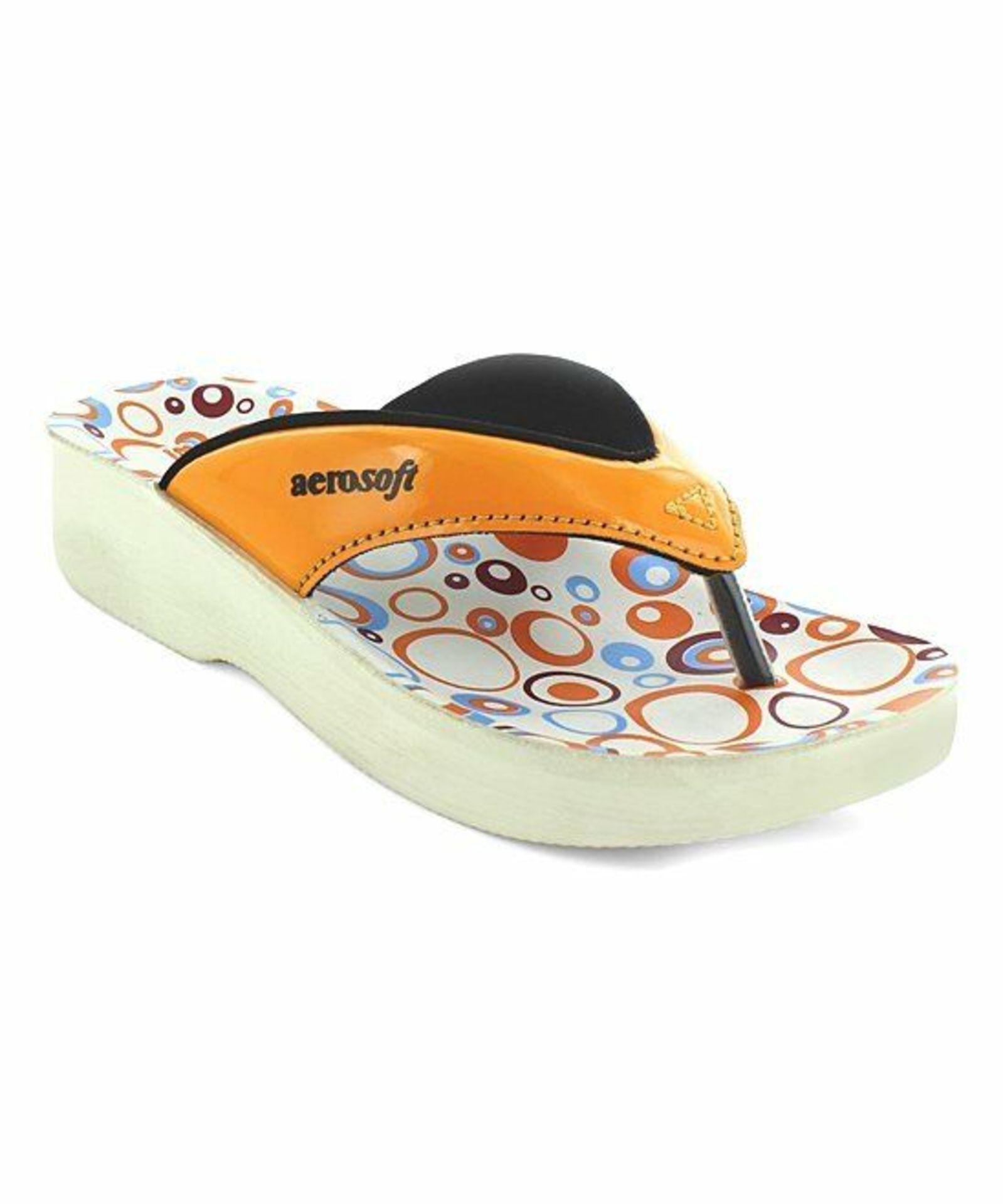 Lot 15 - Aerosoft Orange & White Hip-Hop Sandal (Uk Size:13/Euro:31) (New With Box) [Ref: 53043626-M-005]
