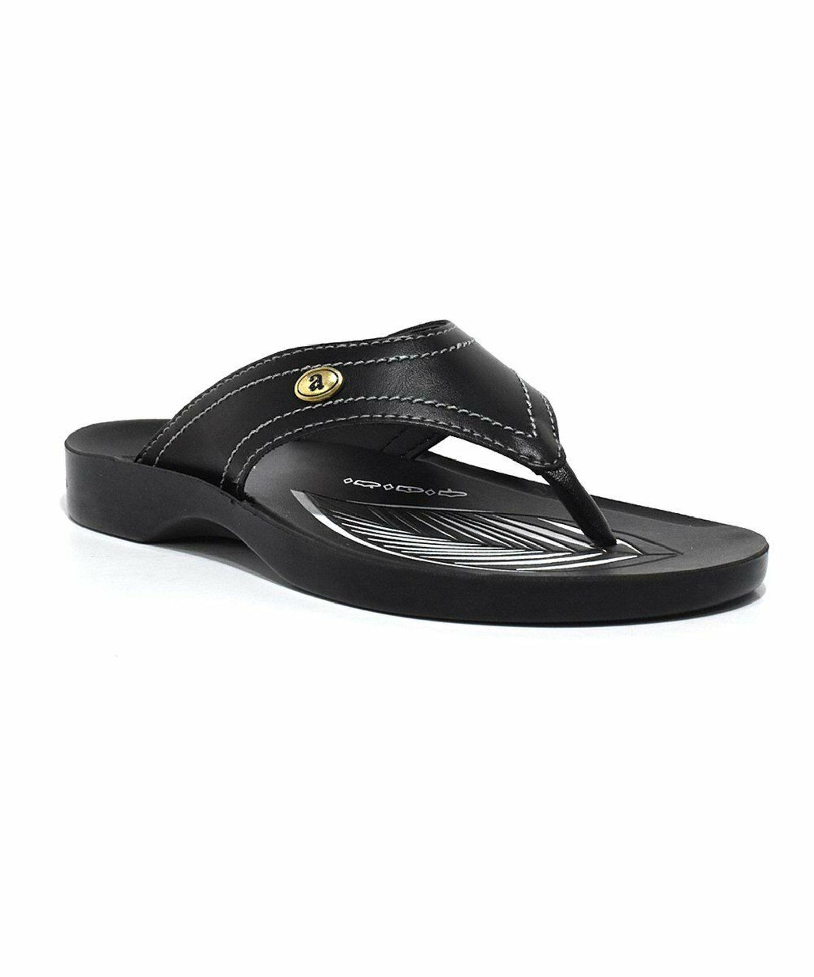 Lot 12 - Aerosoft Black Tendril Sandal (Uk Size:4/Euro Size:37) (New With Box) [Ref: 55766189-D-002]