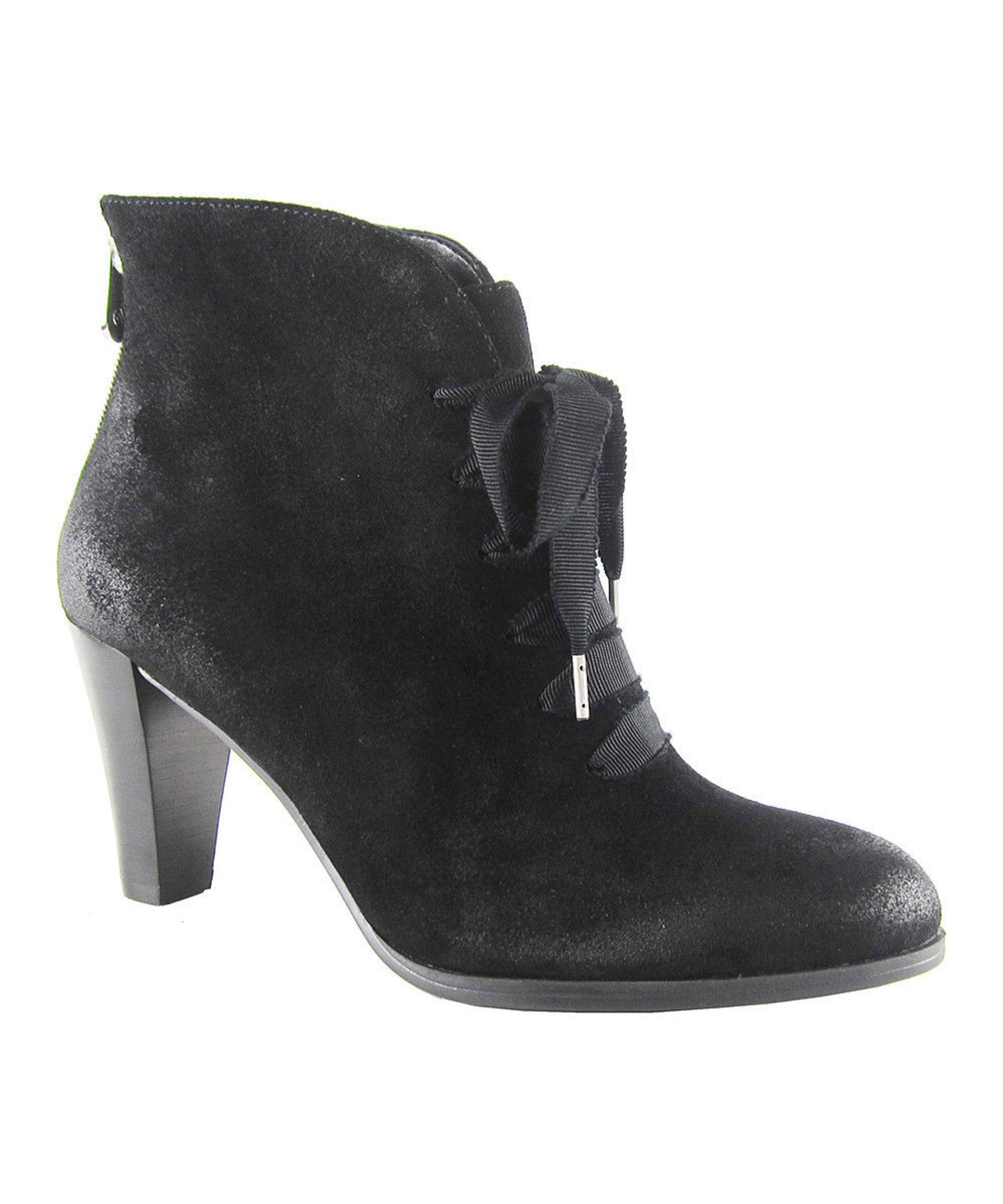 Lot 8 - Adrienne Vittadini® Black Tino Suede Bootie (Uk Size:5/Us Size:7.5) (New With Box) [Ref: 34993604-