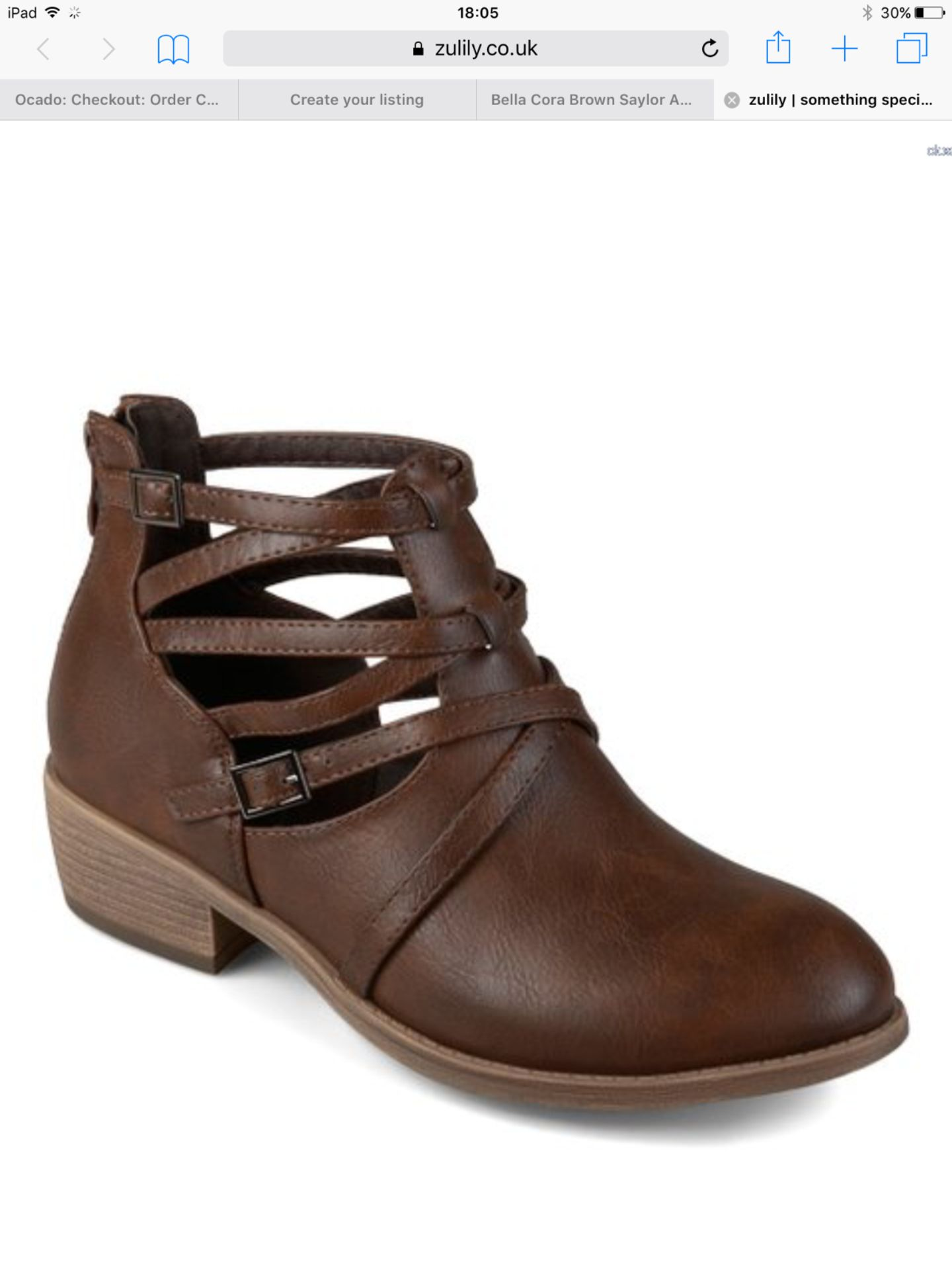 Lot 57 - Bella Cora Brown Saylor Ankle Boot, Size Uk 7.5 Us 10 (New With Box) [Ref: 54279012-A-002]