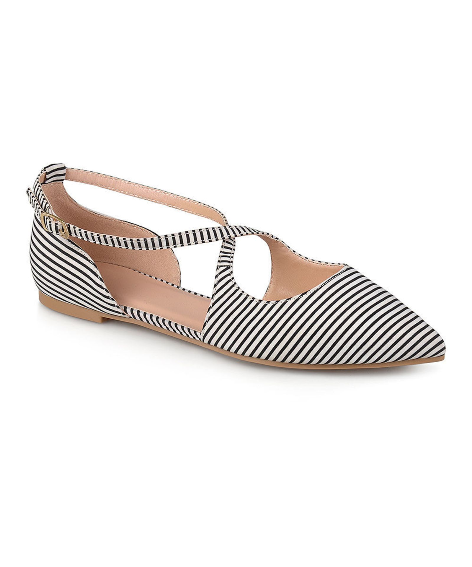 Lot 54 - Bella Cora Black Stripe Malina Flat (Uk Size:5/Us Size:7.5) (New With Box) [Ref: 52534818-G-002]