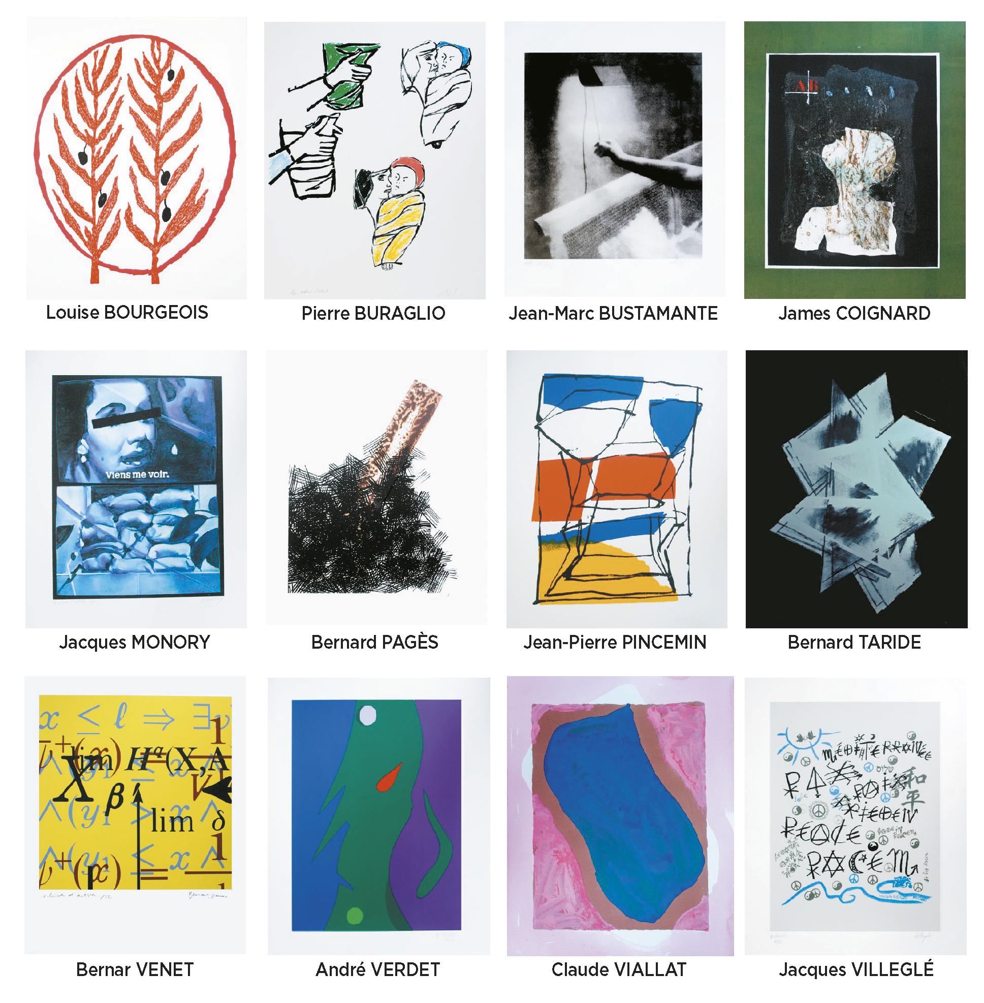 Lot 47 - Méditerranéennes de la paix Portfolio « art pour la paix», 2005 22 serigraph / [...]