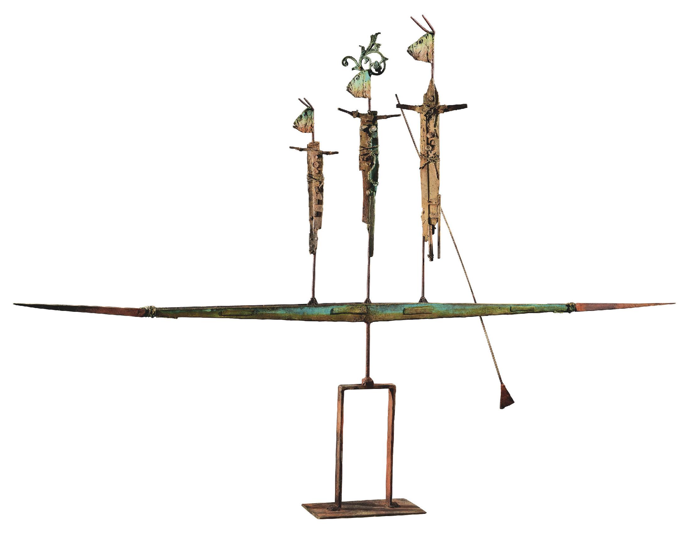 Lot 29 - Giorgi Claude (1954) Pirogue, 2018 - Bronze - H. 131 cm L. 180 cm l. 18 cm -