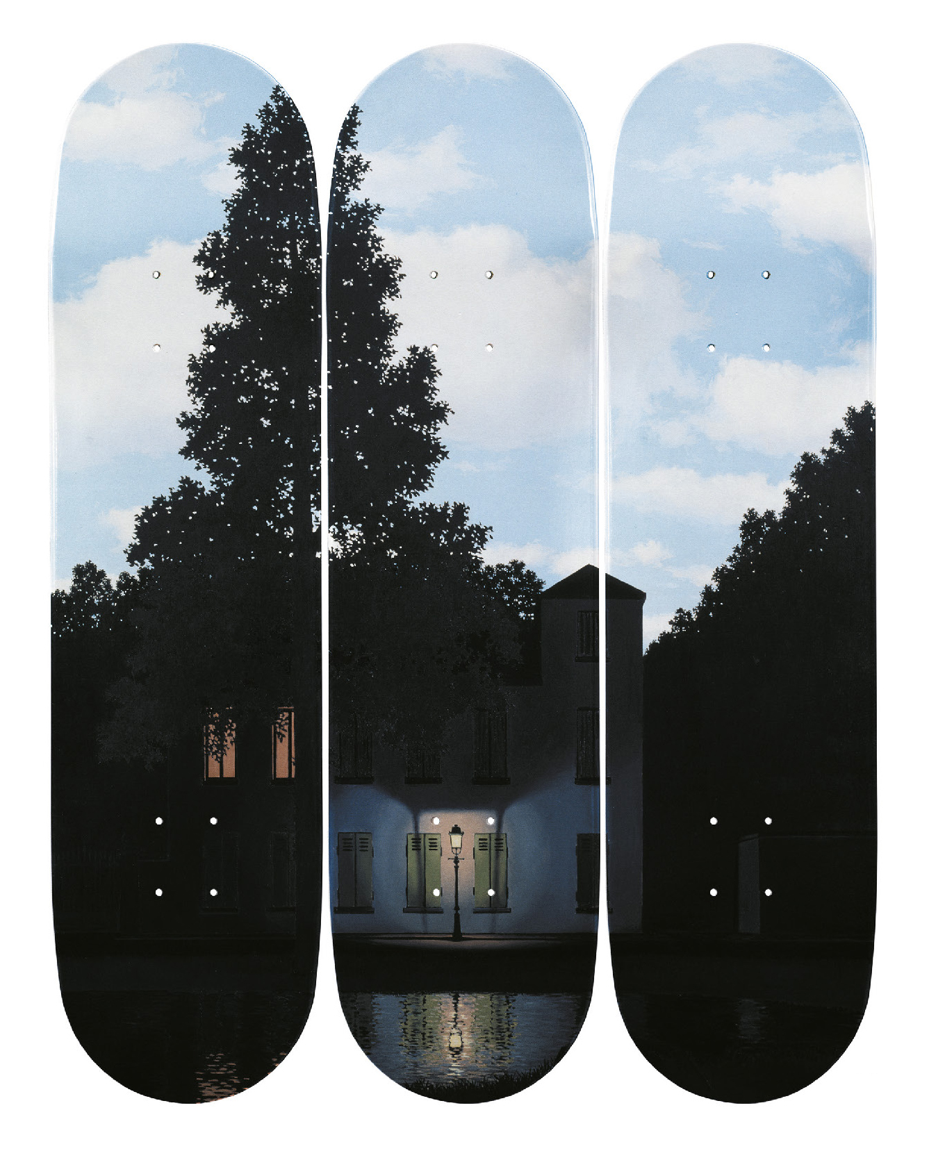 Lot 59 - The Skateroom L'empire des lumières 3 skateboard - Edition of 250 80 x 20 cm each. [...]