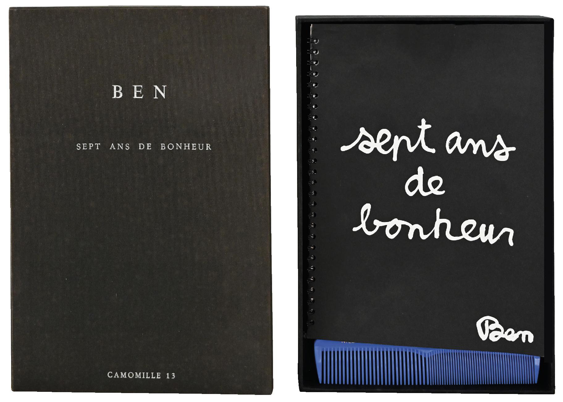Lot 73 - BEN (1935) Sept ans de bonheur - Mixed media (Art book) - 29,5 x 20,5 x 4,5 cm -