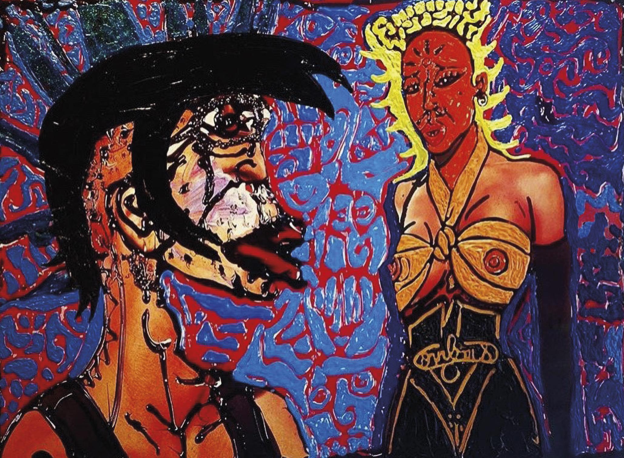 Lot 7 - Combas Robert (1957) Gonflant à la coque, 2008 - Mixed media on argentic photo - [...]