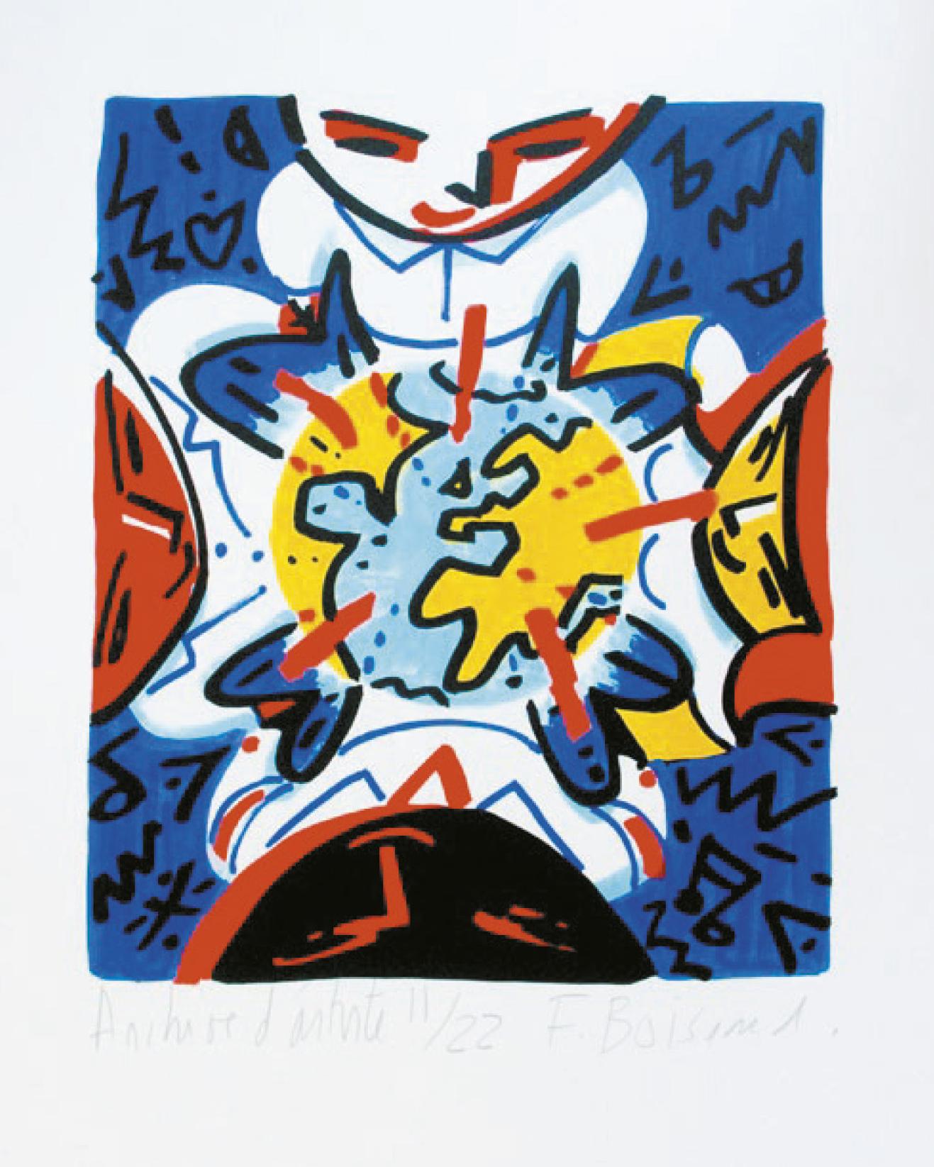 Lot 75 - Boisrond François (1959) Untitled, 2005 - 50 x 40 cm - Serigraph N° 11/22 - Signed [...]