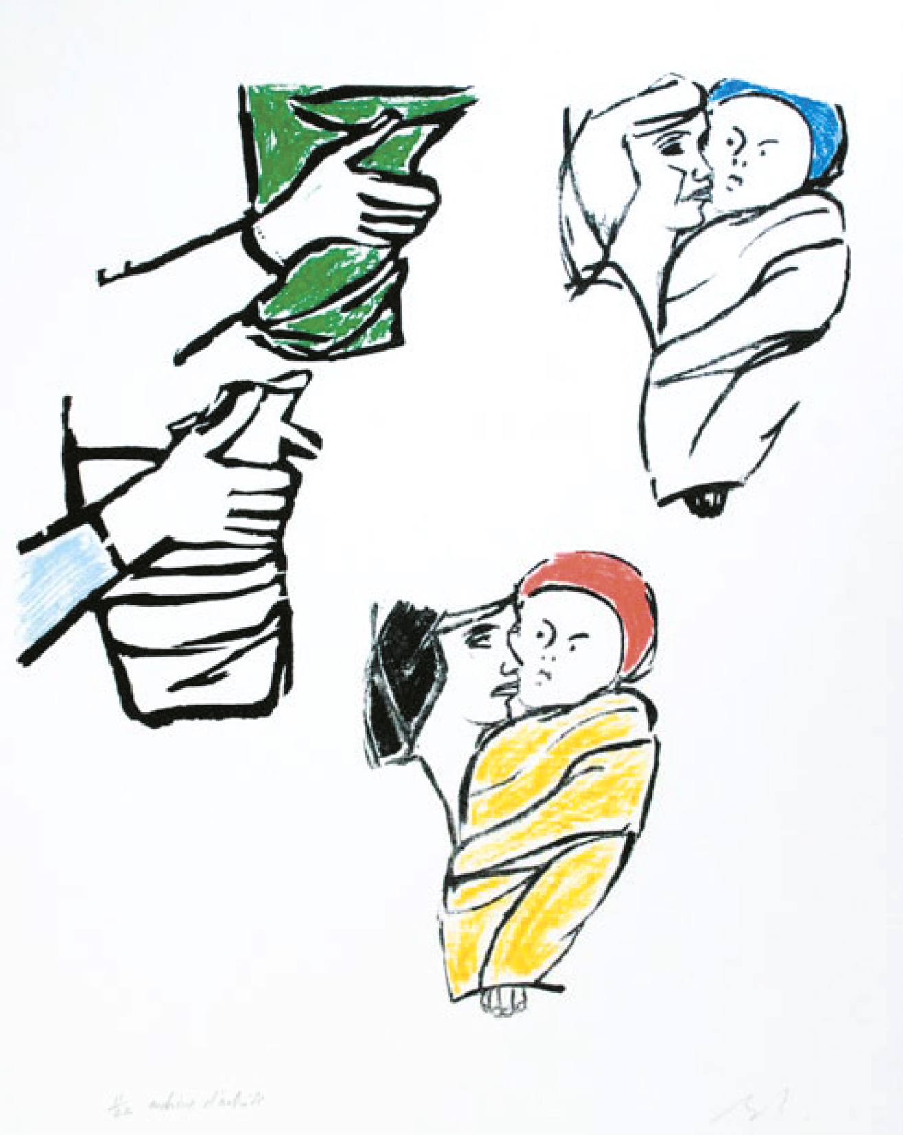 Lot 79 - Buraglio Pierre (1939) Untitled, 2005 - Serigraph N°11/22 Signed on lower right - 50 [...]